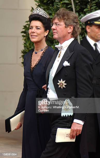 Princess Caroline Of Monaco Ernst Of Hanover Attend The Wedding Of Crown Prince Frederik Mary Donaldson At The Vor Frue Kirke Catherdal In Copenhagen