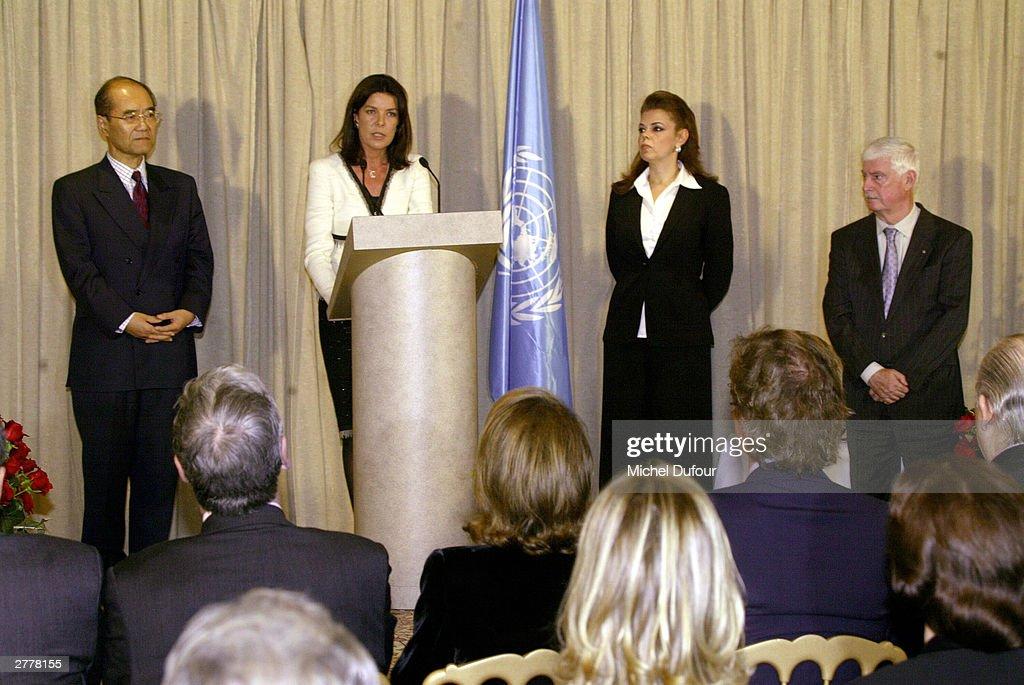 Princess Caroline Of Monaco Appointed UNESCO Good Will Ambassador : News Photo