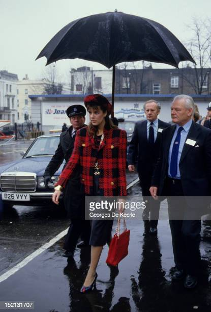 Princess Caroline of Monaco in London on January 1986.