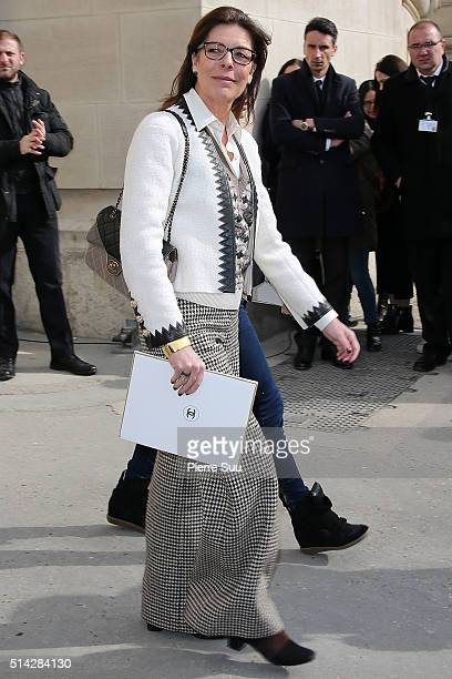 Princess Caroline of Monaco is sighted as she leaves the Chanel show as part of the Paris Fashion Week Womenswear Fall/Winter 2016/2017 on March 8...