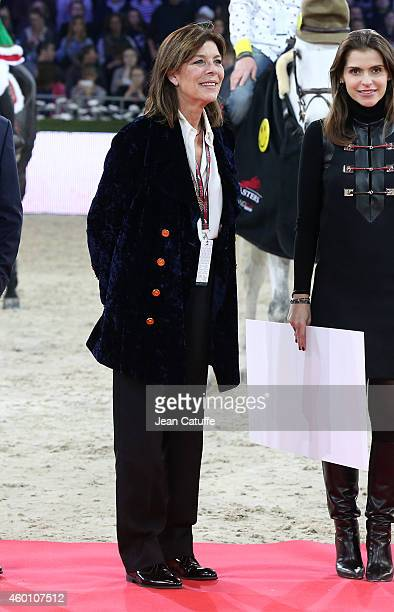 Princess Caroline of Monaco looks on during the trophy ceremony of the Proam Style and Competition event benefiting the Amade foundation during day 3...