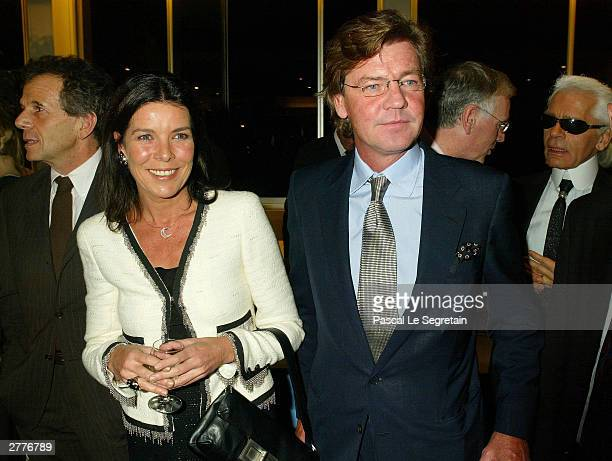 Princess Caroline of Monaco poses with her husband Ernst August of Hanover as she is appointed Good Will Ambassador for the UNESCO December 2, 2003...
