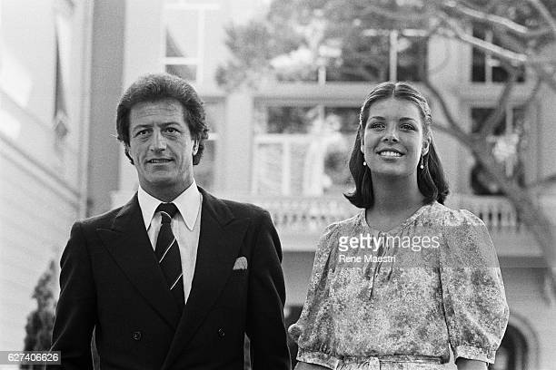 Princess Caroline of Monaco the day of the official celebration of her engagement to French Stockbroker Philippe Junot, in Monaco.
