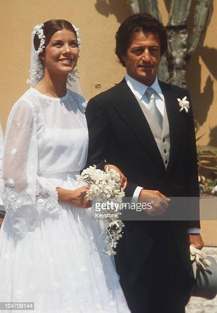 Princess Caroline of Monaco with her new husband Philippe Junot after their wedding in Monaco on June 29 1978