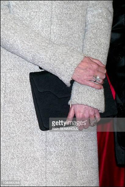 Princess Caroline presents the Nijinski awards at the Monaco dance forum in Monaco on December 14 2002