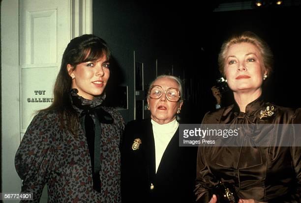 Princess Caroline Vera Maxwell and Grace Kelly circa 1980 in New York City