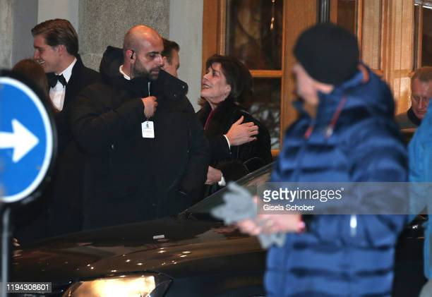 Princess Caroline von Hannover during the wedding party of Stavros Niarchos III and Dasha Zhukova on January 17 2020 at Hotel Kulm in St Moritz...
