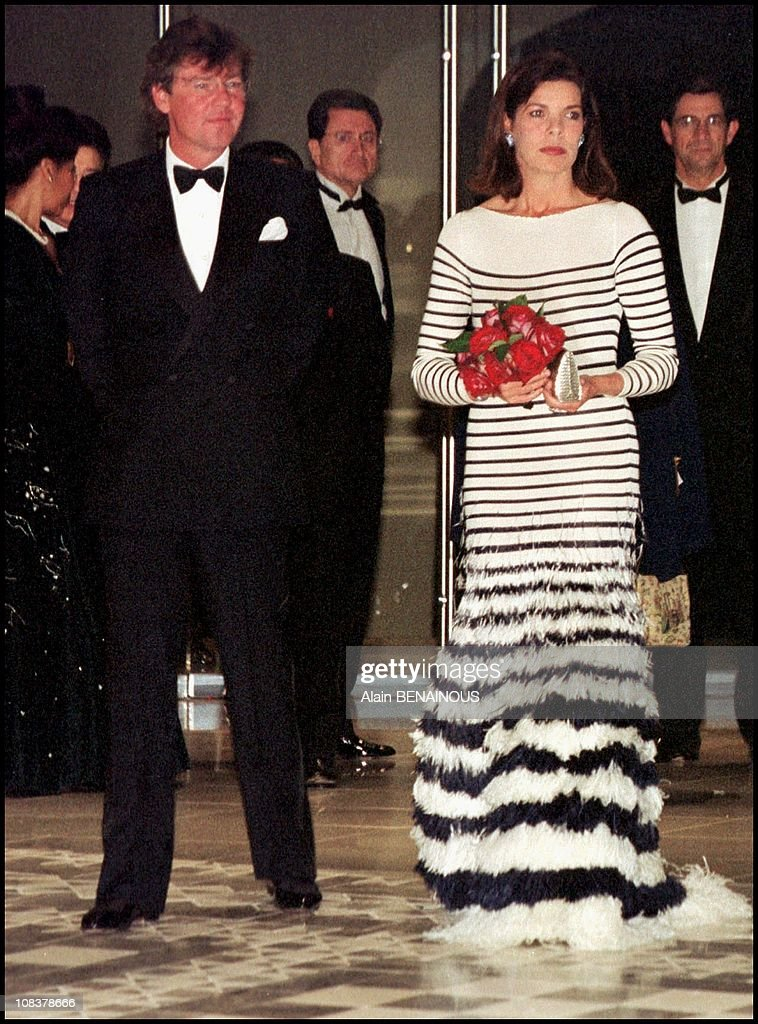 Prince Albert And Princess Caroline Open The Ball Of La Rose 2000 in Monaco on March 25, 2000. : News Photo