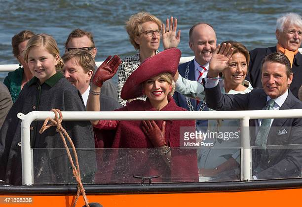 Princess CatharinaAmalia King WillemAlexander Queen Maxima Princess Marilene and Prince Maurits of The Netherlands participate in King's Day...