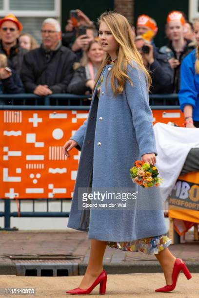 Princess CatharinaAmalia of the Netherlands during their visit to the city of Amersfoort to celebrate Kingsday on April 27 2019 in Amersfoort...