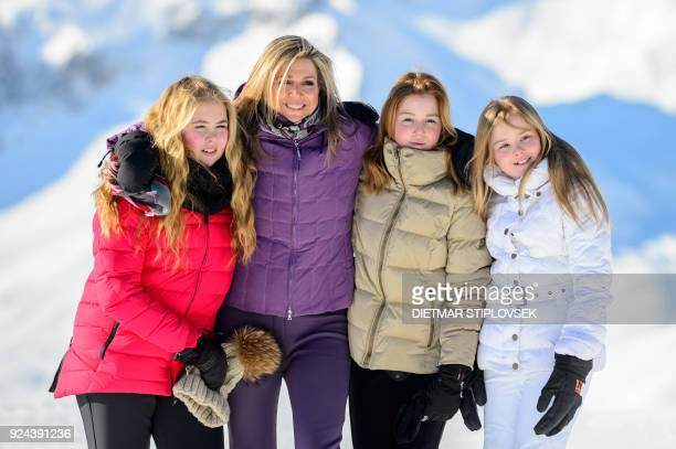 Princess CatharinaAmalia of the Netherlands Queen Maxima of the Netherlands Princess Alexia of the Netherlands and Princess Ariane of the Netherlands...
