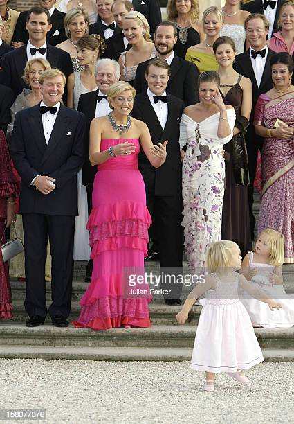 Princess CatharinaAmalia Princess Alexia Of Holland Attend A Festive Reception At Het Loo Palace In Apeldoorn To Celebrate The 40Th Birthday Of Crown...