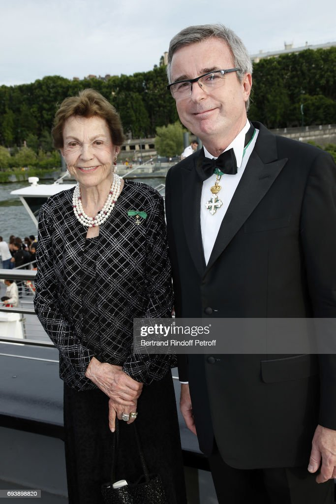Princess Chantal de Bourbon-Parme and Prince Stephane Belosselsky Belozersky attend Charity Gala to Benefit the 'Chretiens D'Orient' on June 8, 2017 in Paris, France.