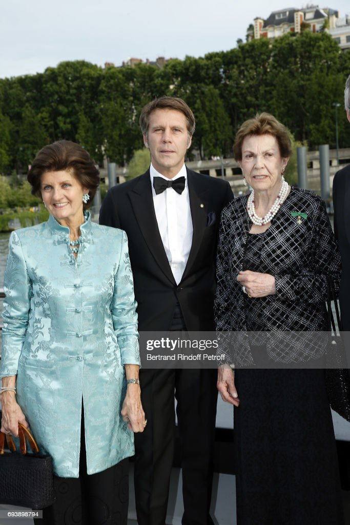 Princess Chantal de Bourbon-Parme, Emmanuel Philibert of Savoy, Prince of Venice, Princess Maria-Pia de Savoy Bourbon attend Charity Gala to Benefit the 'Chretiens D'Orient' on June 8, 2017 in Paris, France.