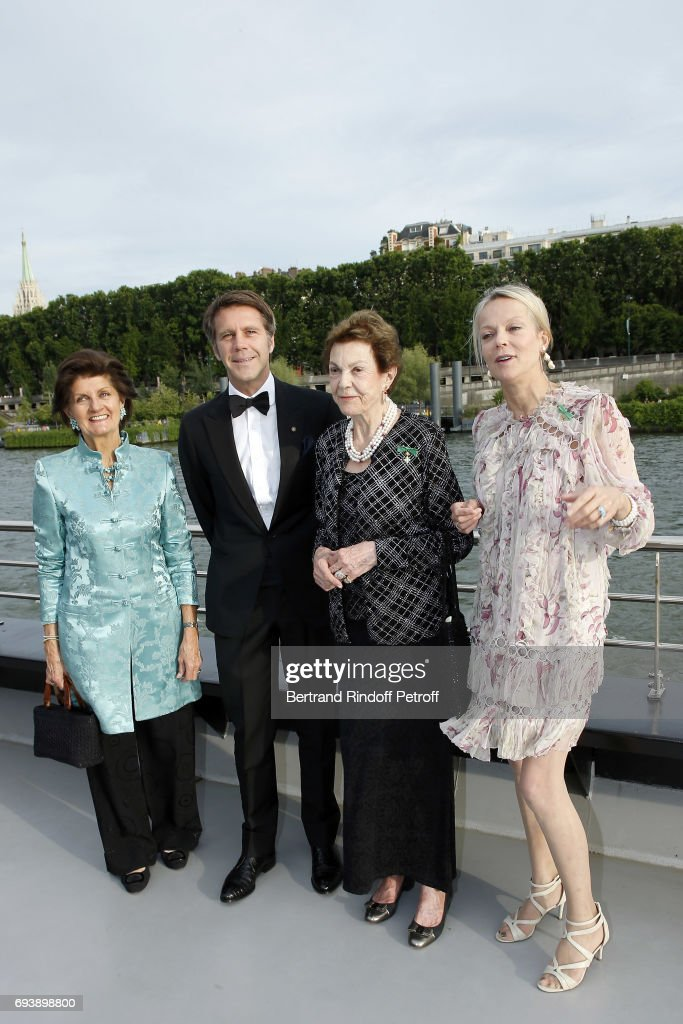 Princess Chantal de Bourbon-Parme, Emmanuel Philibert of Savoy, Prince of Venice, Princess Maria-Pia de Savoy Bourbon and Princess Helene de Yougoslavie attend Charity Gala to Benefit the 'Chretiens D'Orient' on June 8, 2017 in Paris, France.