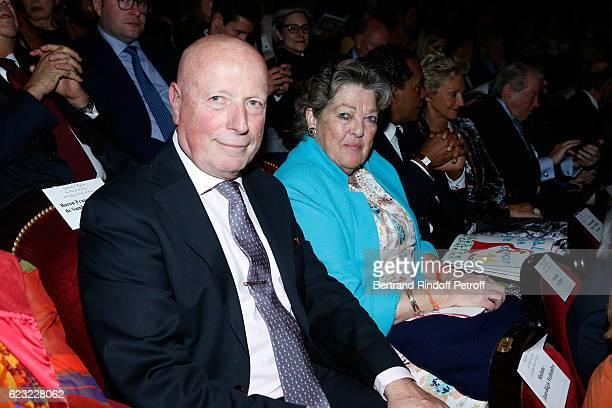 Princess Chantal de France and her husband Baron Francois Xavier de Sanbucy de Sorgues attend the 24th Gala de l'Espoir at Theatre du Chatelet on...