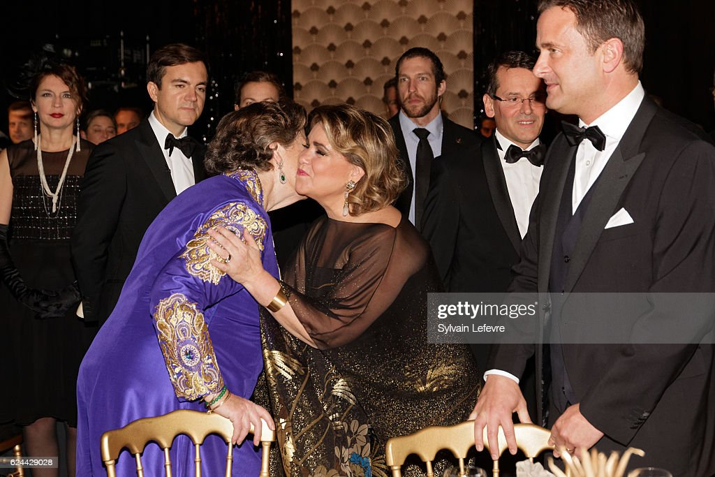 Princess Chantal de France, Grand Duchess Maria Teresa of Luxembourg and Luxembourg Prime Minister Xavier Bettel attend 20th Luxembourg Red Cross Ball Gala on November 19, 2016 in Luxembourg, Luxembourg.