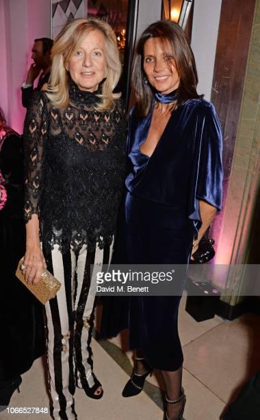 Princess Chantal of Hanover and Countess Debonnaire von Bismarck attend the Claridge's Zodiac Party hosted by Diane von Furstenberg Edward Enninful...