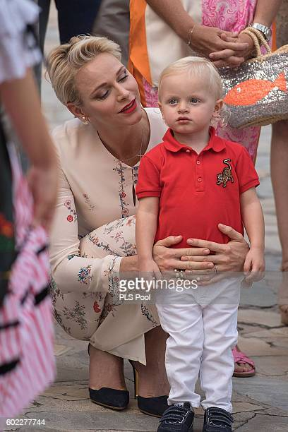 Princess Charlene and Prince Jacques of Monaco attend the annual traditional Pique Nique Monagasque on September 10 2016 in Monaco Monaco