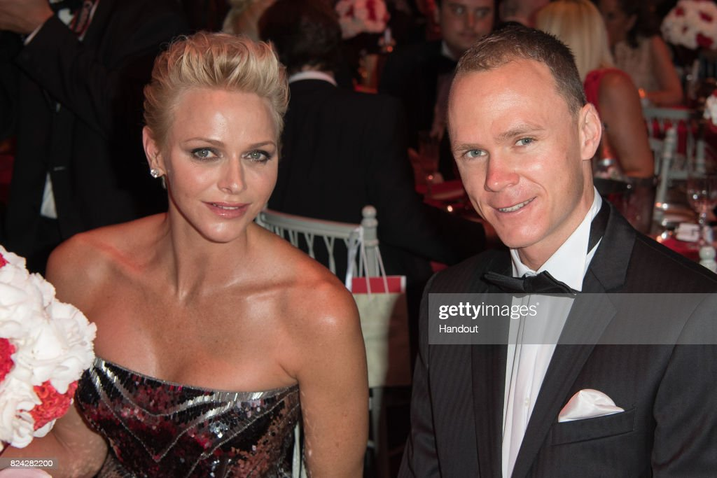 Princess Charlene of Monaco and Christopher Froome attend the 69th Monaco Red Cross Ball Gala at Sporting Monte-Carlo on July 28, 2017 in Monte-Carlo, Monaco.