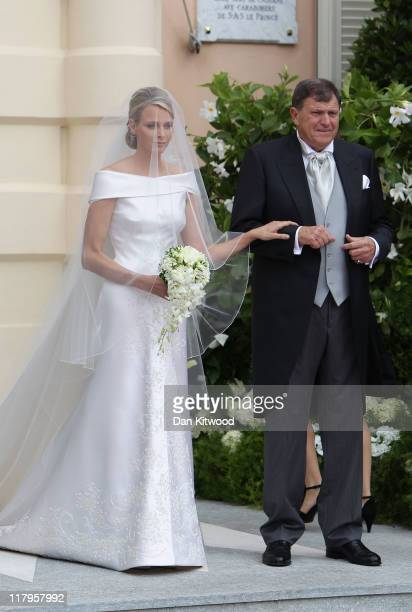Princess Charlene of Monaco and Michael Kenneth Wittstock attend the religious ceremony of the Royal Wedding of Prince Albert II of Monaco to...