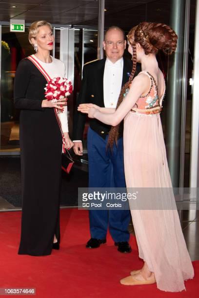 Princess Charlene of Monaco and Prince Albert II of Monaco attend a Gala during Monaco National Day on November 19 2018 in MonteCarlo Monaco
