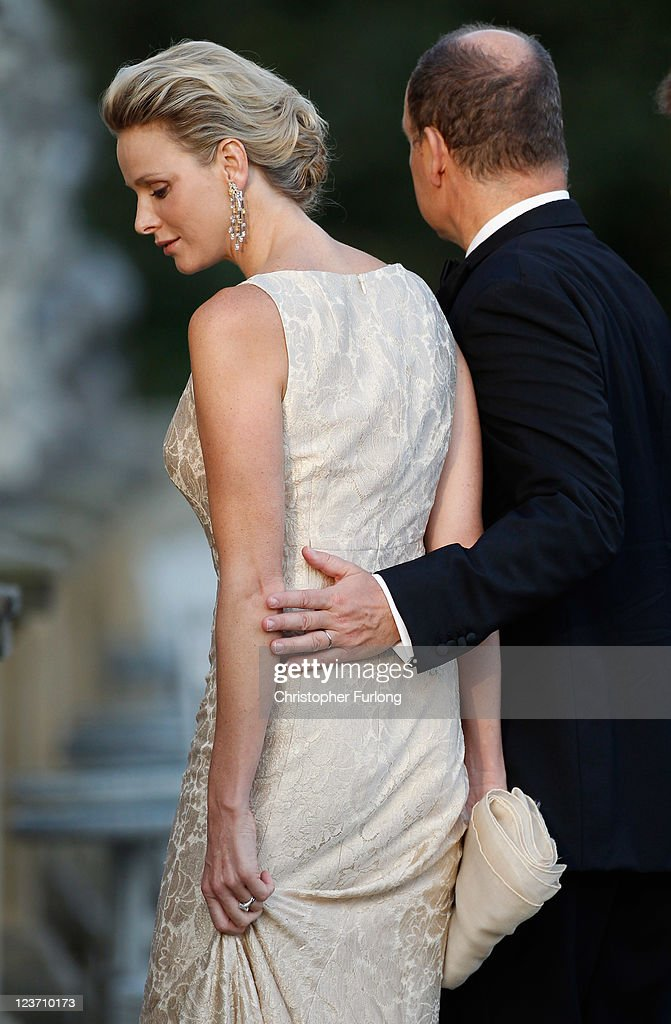Princess Charlene of Monaco (L) and Prince Albert II of Monaco attend the Yorkshire Variety Club Golden Ball at Harewood House on September 4, 2011 in Leeds, England.