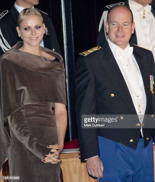 Princess Charlene Of Monaco And Prince Albert Ii Of Monaco Attend The Monaco National Day Gala Concert At Grimaldi Forum As Part Of Monaco National...
