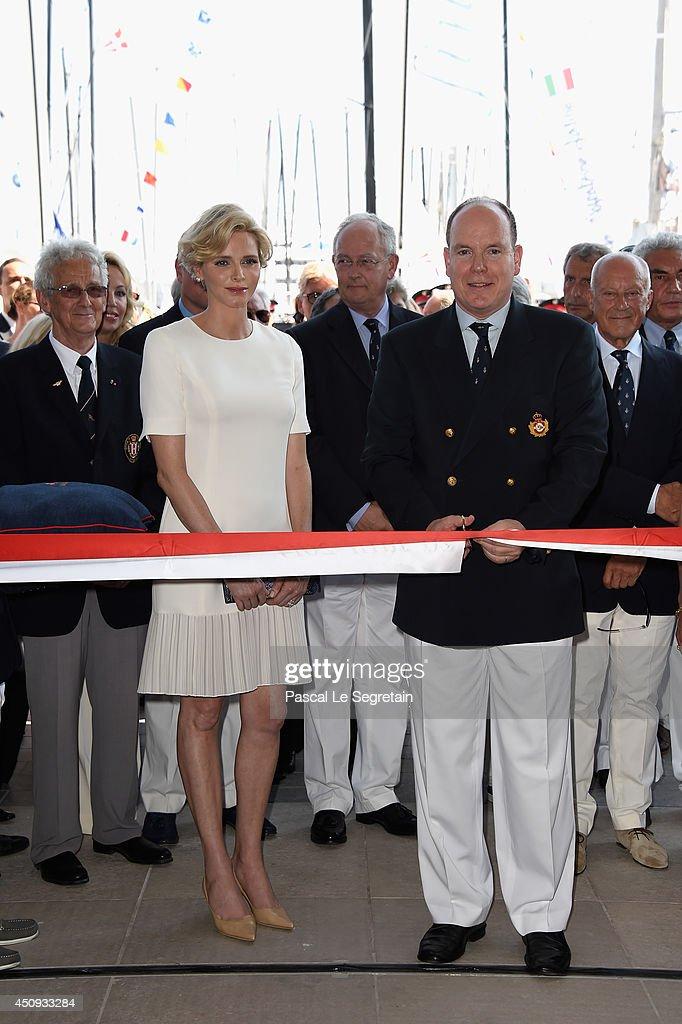 Princess Charlene of Monaco and Prince Albert II of Monaco attend the Monaco Yacht Club (YCM) Opening on June 20, 2014 in Monte-Carlo, Monaco.