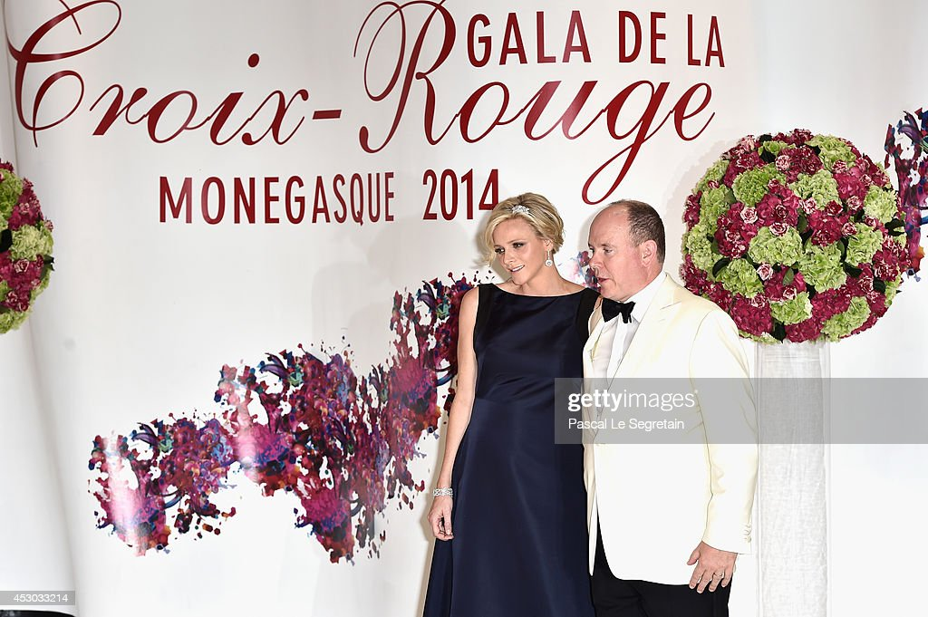 Princess Charlene of Monaco and Prince Albert II of Monaco attend the 66th Monaco Red Cross Ball Gala at Sporting Monte-Carlo on August 1, 2014 in Monte-Carlo, Monaco.