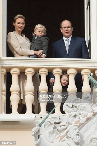 Princess Charlene of Monaco and Prince Albert II of Monaco attend the Ceremony of the SainteDevote the patron saint of the Principality of Monaco and...