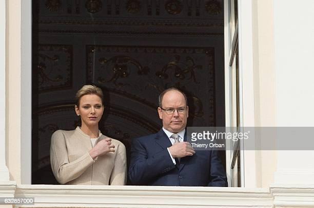 Princess Charlene of Monaco and Prince Albert II of Monaco attend the Ceremony of the SainteDevote the patron saint of the Principality of Monaco and...
