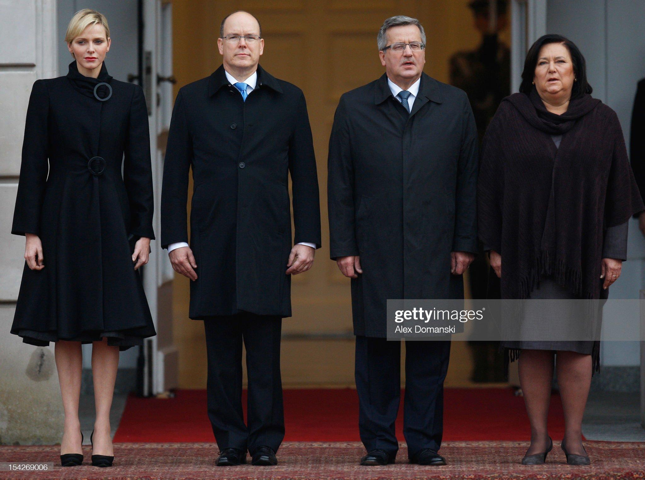 Prince Albert II Of Monaco And Princess Charlene Of Monaco Visit Warsaw : News Photo