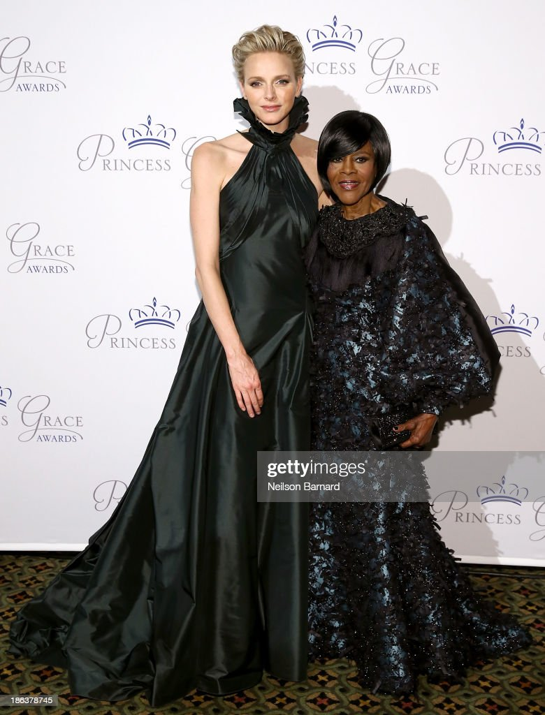 Princess Charlene of Monaco and Prince Rainier III Award Recipient Cicely Tyson attend the 2013 Princess Grace Awards Gala at Cipriani 42nd Street on October 30, 2013 in New York City.