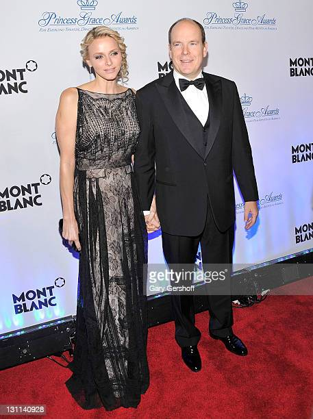 Princess Charlene of Monaco and TSH Prince Albert ll attend the 2011 Princess Grace Awards Gala at Cipriani 42nd Street on November 1 2011 in New...