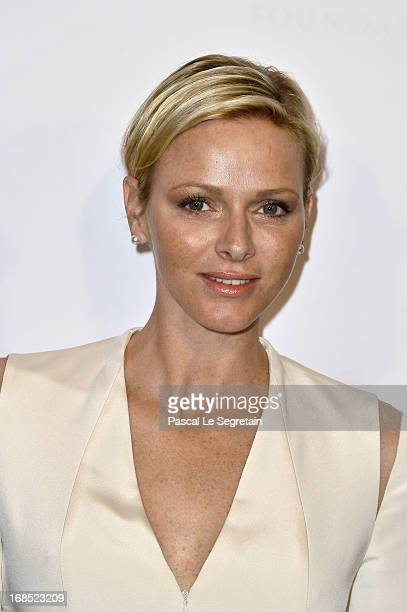Princess Charlene of Monaco arrives at The White Feather Foundation Charity Ball 2013 at Ballet De Monte Carlo on May 10 2013 in Monaco Monaco The...