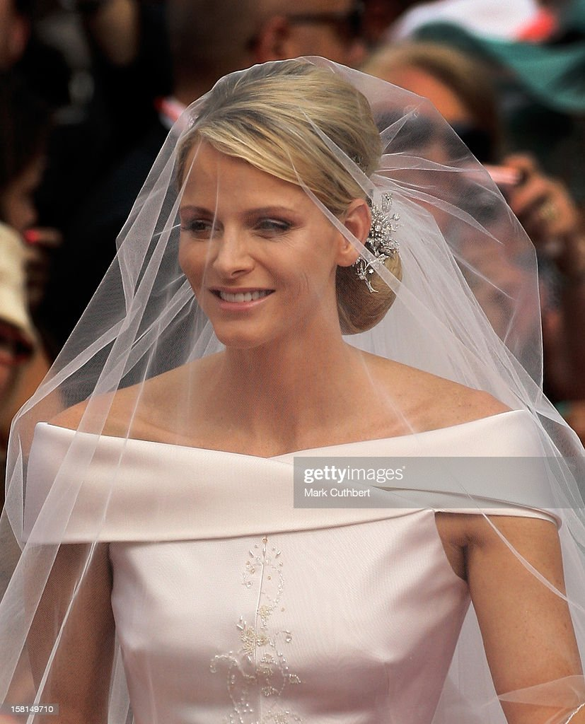 Princess Charlene Of Monaco Arriving At The Royal Palace In Monaco For The Wedding Of Hsh Prince Albert Ii Of Monaco To Miss Charlene Wittstock.
