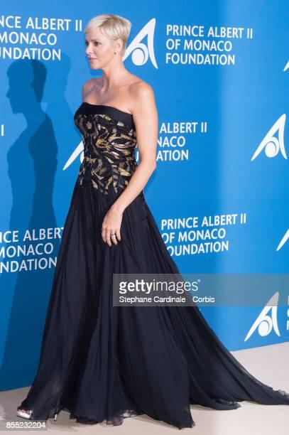 Princess Charlene of Monaco attend the Inaugural MonteCarlo Gala For The Global Ocean Honoring Leonardo DiCaprio at The Monaco Garnier Opera on...