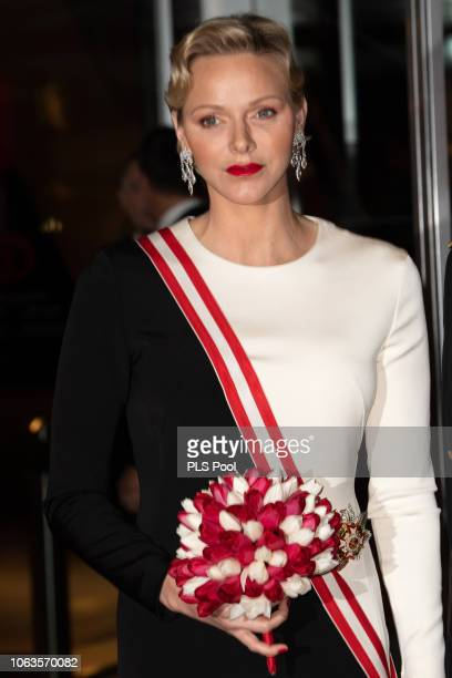 Princess Charlene of Monaco attends a Gala during Monaco National Day on November 19 2018 in MonteCarlo Monaco