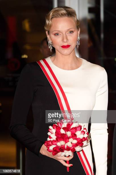 Princess Charlene of Monaco attends a Gala during Monaco National Day on November 19, 2018 in Monte-Carlo, Monaco.