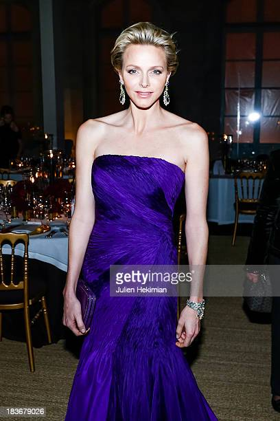 Princess Charlene of Monaco attends a private dinner following the presentation of the Ralph Lauren Fall 13 Collection Show at Les BeauxArts de Paris...