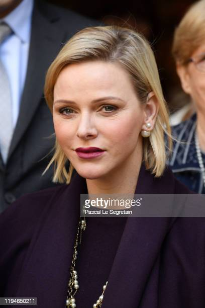 Princess Charlene Of Monaco attends Christmas gifts distribution at La Croix Rouge in Monte-Carlo on December 18, 2019 in Monaco, Monaco.