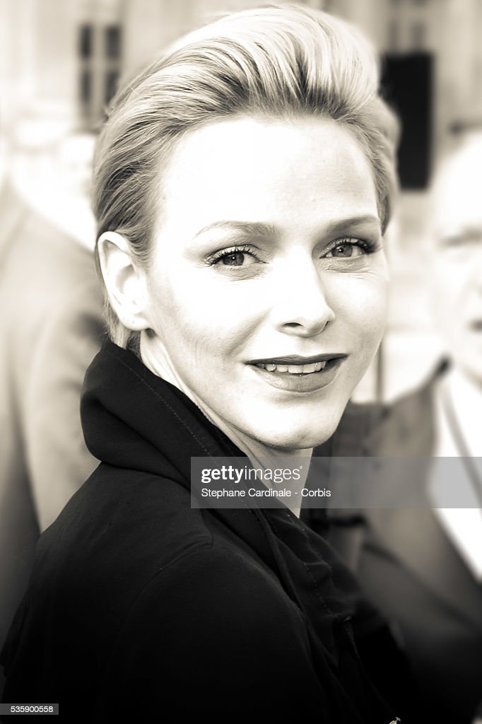 Princess Charlene of Monaco attends Louis Vuitton show at 'Cour Carre du Louvre', as part of the Paris Fashion Week Womenswear Spring/Summer 2014, in Paris.
