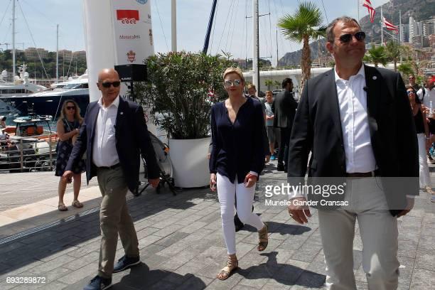 Princess Charlene of Monaco attends Riviera Water Bike Challenge on June 4 2017 in MonteCarlo Monaco