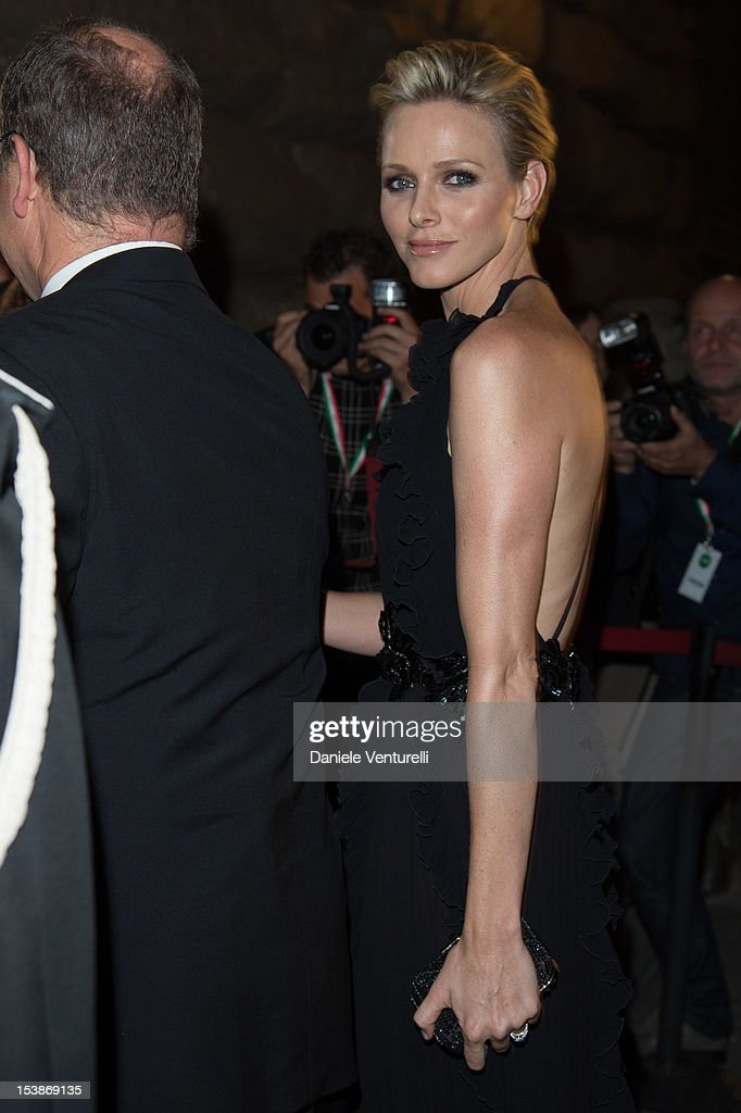 Princess Charlene of Monaco attends the 2012 Ballo del Giglio at Palazzo Pitti on October 10, 2012 in Florence, Italy.