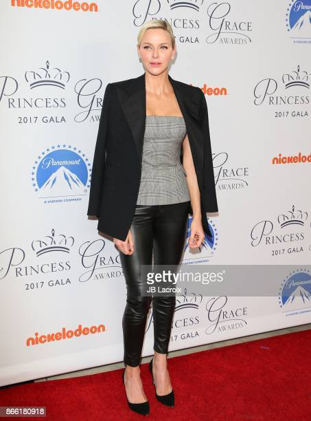 Princess Charlene of Monaco attends the 2017 Princess Grace Awards Gala Kick Off Event on October 24 2017 in Los Angeles California