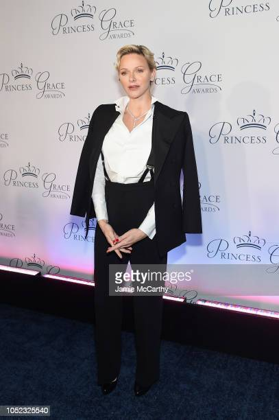 Princess Charlene of Monaco attends the 2018 Princess Grace Awards Gala at Cipriani 25 Broadway on October 16 2018 in New York City