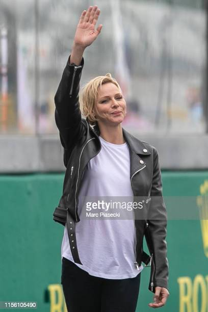 Princess Charlene of Monaco attends the 24 Hours of Le Mans race on June 15, 2019 in Le Mans, France.