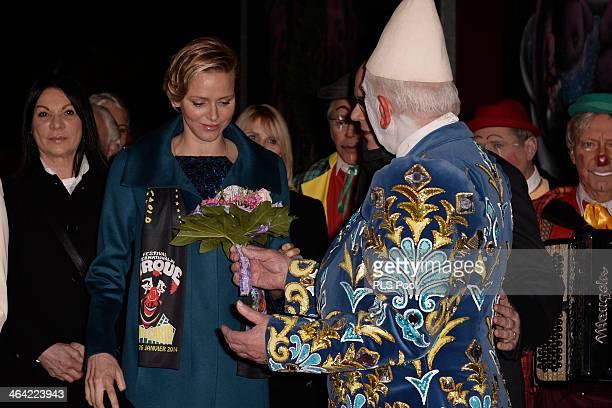 Princess Charlene of Monaco attends the 38th International Circus Festival on January 21 2014 in MonteCarlo Monaco