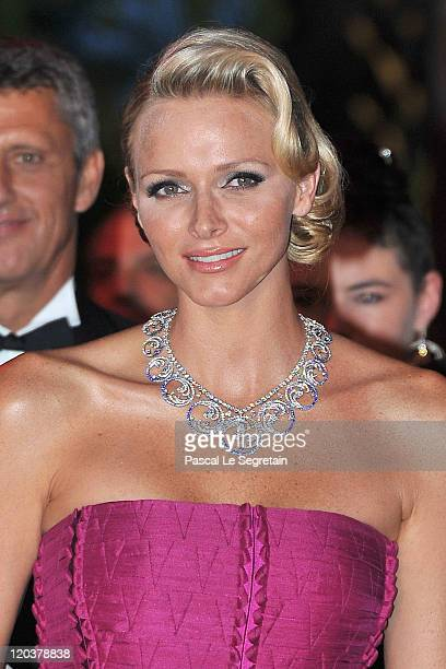 Princess Charlene of Monaco attends the 63rd Red Cross Ball at the Sporting MonteCarlo on August 5 2011 in MonteCarlo Monaco